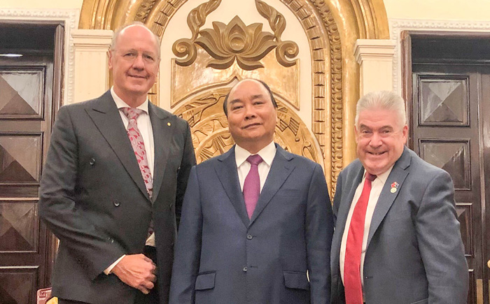 Prime Ministers talk education, trade and economy in Vietnam