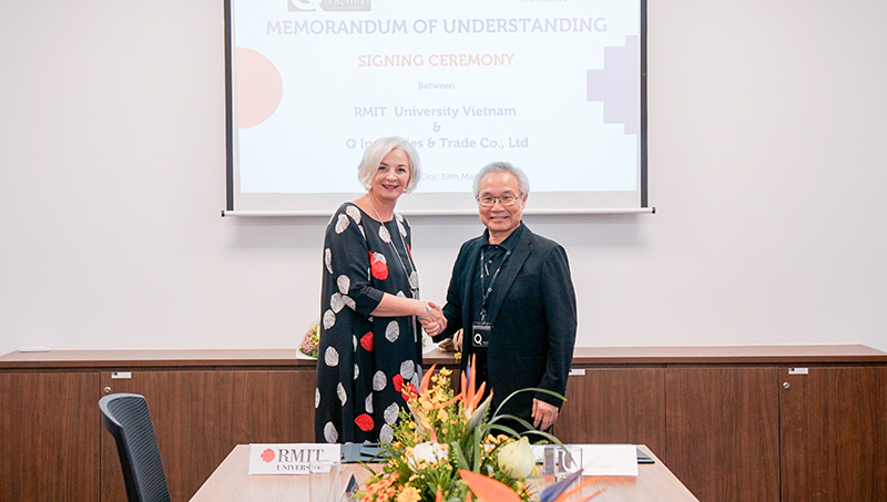 RMIT Vietnam and Q Industries Vietnam have signed a Memorandum of Understanding (MOU) to boost collaboration between the two organisations.