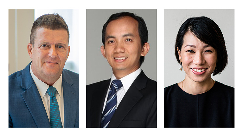 From left to right: RMIT Vietnam Executive Dean (Academic Students) Professor Rick Bennett, Managing Director of Merita Capital Mr Tai Le, Chairperson and Co-founder of Australia - Vietnam Young Leadership Dialogue Ms Cat Thao Nguyen.